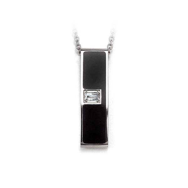 Black Tide - Pendant titanium germanium jewelry,necklace,pendant,couple necklace,blood circulation,magnetite,La Jolla,neck strain,shoulder pain,massage,healthy,light, sedentary,prolonged standing,healthy,varices,father's
