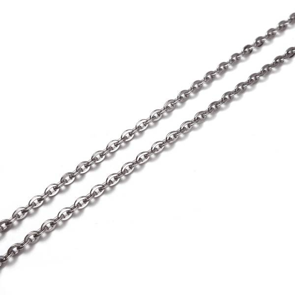 A Chains - Single Cable -  46 cm titanium germanium jewelry,necklace,pendant,couple necklace,blood circulation,magnetite,La Jolla,neck strain,shoulder pain,massage,healthy,light, sedentary,prolonged standing,healthy,varices,father's