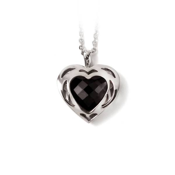 Sweet Heart - Black Onyx - Pendant titanium germanium jewelry,bracelet,chains,bangles,couple bracelet,blood circulation,magnetite,La Jolla,neck strain,shoulder pain,massage,healthy,light, sedentary,prolonged standing,healthy,varices,ge