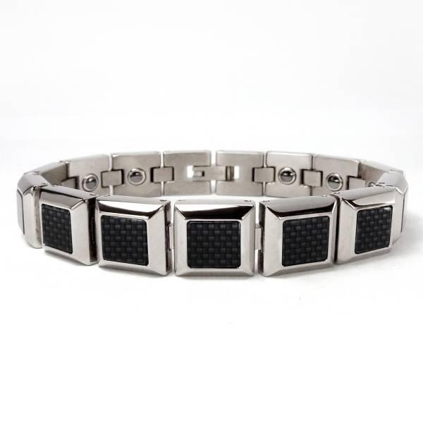 Yuppie - Carbon Fibers - Bracelet titanium germanium jewelry,bracelet,chains,bangles,couple bracelet,blood circulation,magnetite,La Jolla,neck strain,shoulder pain,massage,healthy,light, sedentary,prolonged standing,healthy,varices,ge