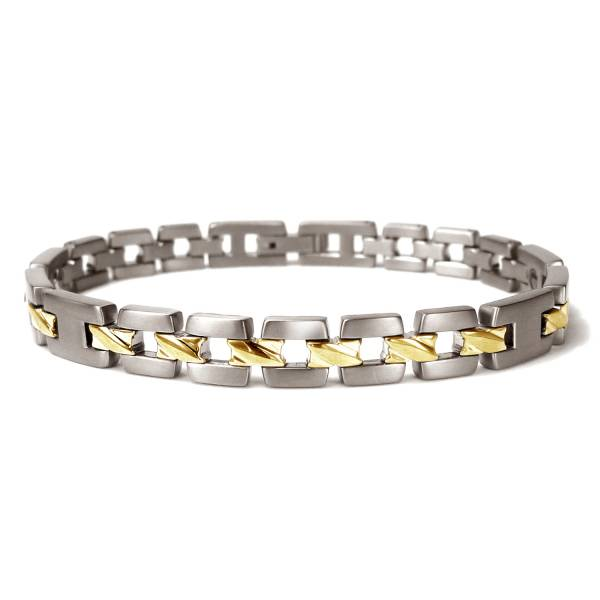 Midday Sunshine & Midnight Motion - 18K Gold - Female Bracelet titanium germanium jewelry,bracelet,chains,bangles,couple bracelet,blood circulation,magnetite,La Jolla,neck strain,shoulder pain,massage,healthy,light, sedentary,prolonged standing,healthy,varices,ge