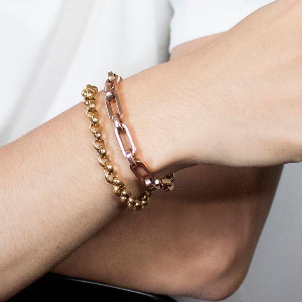 Heavy Metal II - Rose Gold - Bracelet titanium germanium jewelry,bracelet,chains,bangles,couple bracelet,blood circulation,magnetite,La Jolla,neck strain,shoulder pain,massage,healthy,light, sedentary,prolonged standing,healthy,varices,ge