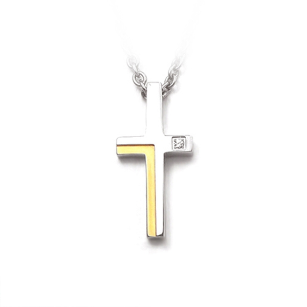 Dual Color Cross - Pendant titanium germanium jewelry,bracelet,chains,bangles,couple bracelet,blood circulation,magnetite,La Jolla,neck strain,shoulder pain,massage,healthy,light, sedentary,prolonged standing,healthy,varices,ge