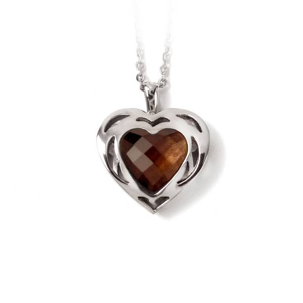 Sweet Heart - Smoky Quartz - Pendant titanium germanium jewelry,bracelet,chains,bangles,couple bracelet,blood circulation,magnetite,La Jolla,neck strain,shoulder pain,massage,healthy,light, sedentary,prolonged standing,healthy,varices,ge
