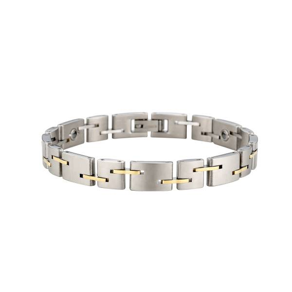 Timespinner - II - 18K Gold - Female Bracelet titanium germanium jewelry,bracelet,chains,bangles,couple bracelet,blood circulation,magnetite,La Jolla,neck strain,shoulder pain,massage,healthy,light, sedentary,prolonged standing,healthy,varices,ge