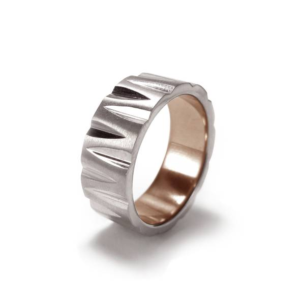 Wogue - inner Rose Gold - Male Ring  Titanium ring,rings,engagement rings,valentine's day gift,daily apparel,gem,light,Christmas gift,lucky charm,girlfriend,boyfriend,accessories,propose