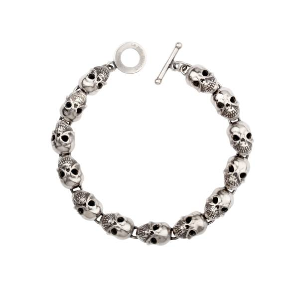 Skulls - Bracelet titanium germanium jewelry,bracelet,chains,bangles,couple bracelet,blood circulation,magnetite,La Jolla,neck strain,shoulder pain,massage,healthy,light, sedentary,prolonged standing,healthy,varices,ge