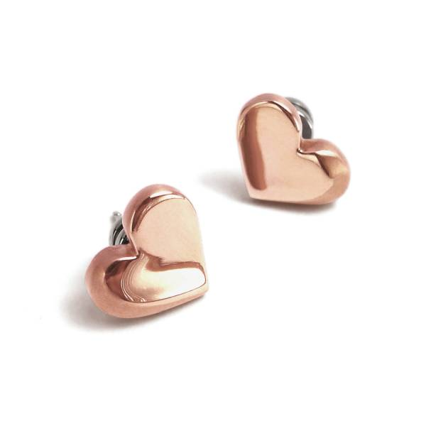 Love sounds - Rose Gold - Earring titanium germanium jewelry,bracelet,chains,bangles,couple bracelet,blood circulation,magnetite,La Jolla,neck strain,shoulder pain,massage,healthy,light, sedentary,prolonged standing,healthy,varices,ge