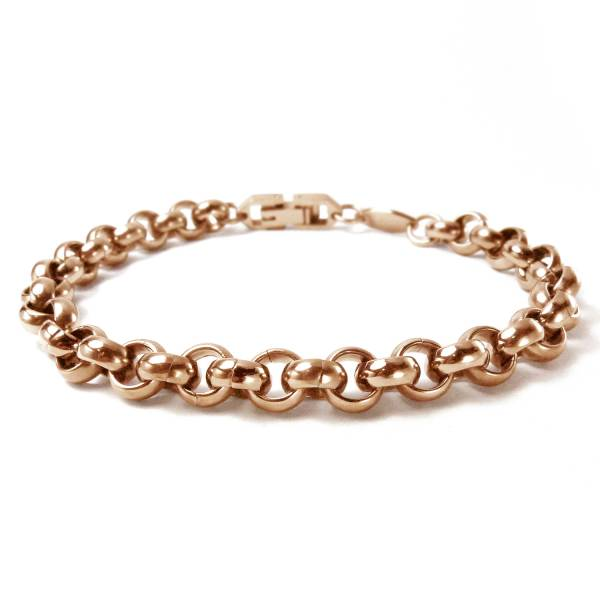 Heavy Metal I - Rose Gold - Bracelet titanium germanium jewelry,bracelet,chains,bangles,couple bracelet,blood circulation,magnetite,La Jolla,neck strain,shoulder pain,massage,healthy,light, sedentary,prolonged standing,healthy,varices,ge