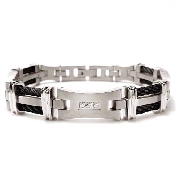 Silk Road - Zircon - Black - Bracelet titanium germanium jewelry,bracelet,chains,bangles,couple bracelet,blood circulation,magnetite,La Jolla,neck strain,shoulder pain,massage,healthy,light, sedentary,prolonged standing,healthy,varices,ge