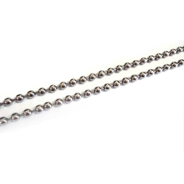 4mm Beaded Chains - 50 cm titanium germanium jewelry,necklace,pendant,couple necklace,blood circulation,magnetite,La Jolla,neck strain,shoulder pain,massage,healthy,light, sedentary,prolonged standing,healthy,varices,father's