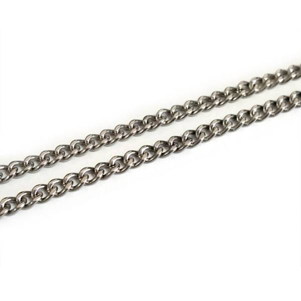 K Chains - Single Curb - 60 cm titanium germanium jewelry,necklace,pendant,couple necklace,blood circulation,magnetite,La Jolla,neck strain,shoulder pain,massage,healthy,light, sedentary,prolonged standing,healthy,varices,father's