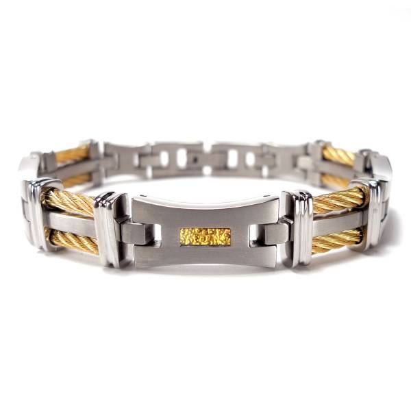 Silk Road - Gold Foil - Golden - Bracelet titanium germanium jewelry,bracelet,chains,bangles,couple bracelet,blood circulation,magnetite,La Jolla,neck strain,shoulder pain,massage,healthy,light, sedentary,prolonged standing,healthy,varices,ge