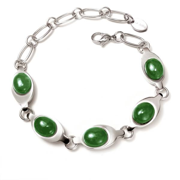 Taj Mahal - Green Jade - Bracelet titanium germanium jewelry,bracelet,chains,bangles,couple bracelet,blood circulation,magnetite,La Jolla,neck strain,shoulder pain,massage,healthy,light, sedentary,prolonged standing,healthy,varices,ge
