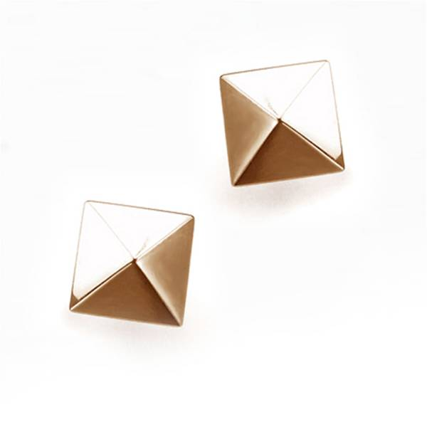 Pyramid - Rose Gold - Earring titanium germanium jewelry,bracelet,chains,bangles,couple bracelet,blood circulation,magnetite,La Jolla,neck strain,shoulder pain,massage,healthy,light, sedentary,prolonged standing,healthy,varices,ge