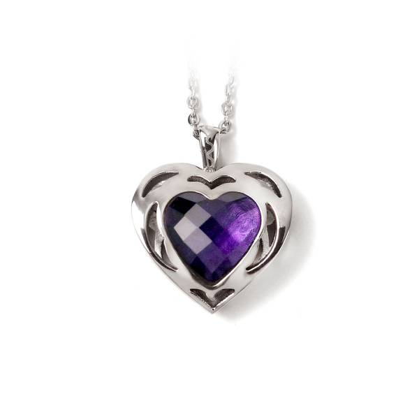 Sweet Heart - Amethyst - Pendant titanium germanium jewelry,bracelet,chains,bangles,couple bracelet,blood circulation,magnetite,La Jolla,neck strain,shoulder pain,massage,healthy,light, sedentary,prolonged standing,healthy,varices,ge