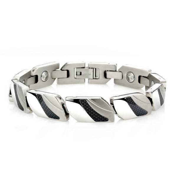 Lovers in Paris - Carbon Fibers - Male Bracelet titanium germanium jewelry,bracelet,chains,bangles,couple bracelet,blood circulation,magnetite,La Jolla,neck strain,shoulder pain,massage,healthy,light, sedentary,prolonged standing,healthy,varices,ge
