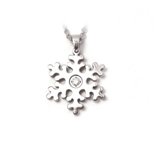 Snowflake - Pendant titanium germanium jewelry,necklace,pendant,couple necklace,blood circulation,magnetite,La Jolla,neck strain,shoulder pain,massage,healthy,light, sedentary,prolonged standing,healthy,varices,father's