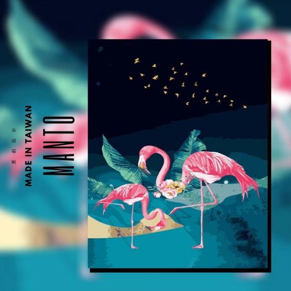 Let's Flamingo!火烈鳥|MANTO創意數字油畫(4050M) 火烈鳥,Flamingo,數字油畫,manto,數字畫