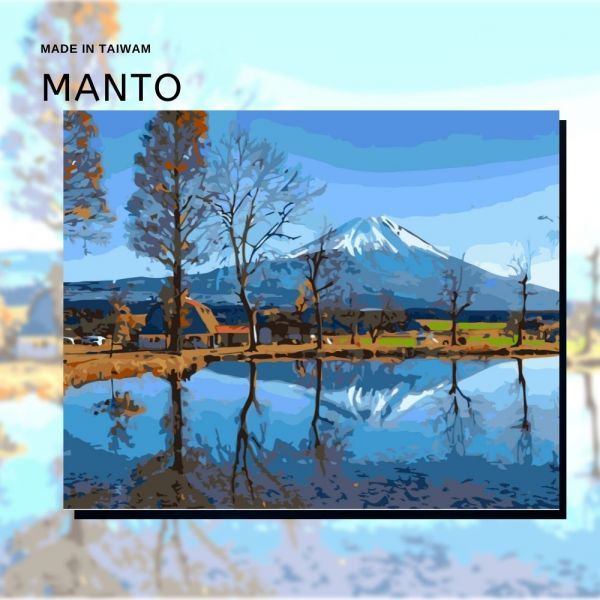 靜岡富士|MANTO創意數字油畫(4050) 富士山,風景畫,數字油畫,manto,數字畫