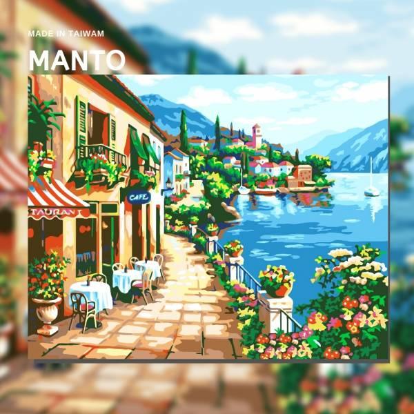 地中海迷情|MANTO創意數字油畫(4050M) 地中海,風景畫,數字油畫,manto,台灣數字油畫,數字油畫批發,倫敦