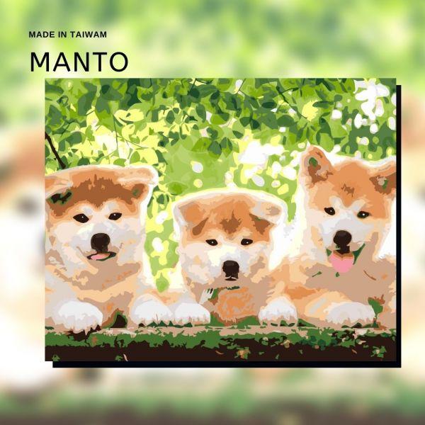 狗狗三兄弟|MANTO創意數字油畫(4050M) 狗狗,秋田犬,數字油畫,manto,數字畫