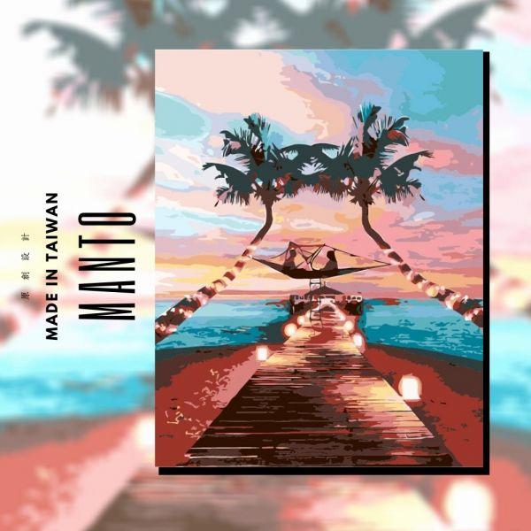 夜訪薄荷島 MANTO創意數字油畫(4050M) 薄荷島,風景畫,數字油畫,manto,數字畫