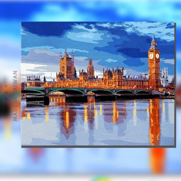 倫敦的早晨 |MANTO創意數字油畫(4050) 倫敦 ,風景畫,英國,數字油畫,manto,台灣數字油畫,數字油畫批發,數字油畫團購