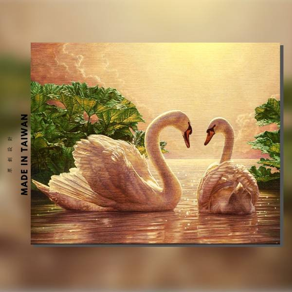 愛戀天鵝湖|MANTO創意數字油畫(4050M) 地中海,希臘,數字油畫,manto,台灣數字油畫,數字油畫批發,數字油畫團購