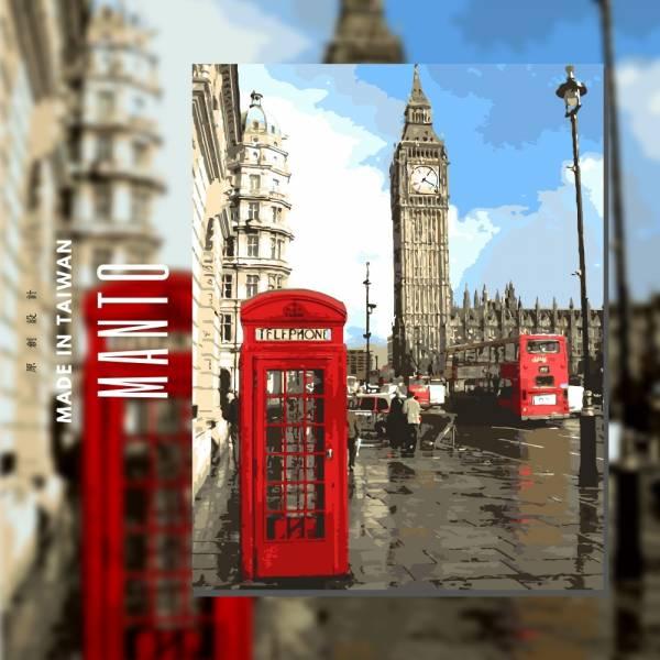 愛在英倫|MANTO創意數字油畫(4050M) 倫敦,風景畫,數字油畫,manto,台灣數字油畫,數字油畫批發,數字油畫團購