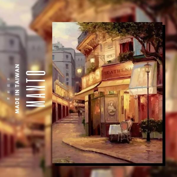 街邊童話|MANTO創意數字油畫(4050M) 街邊童話,風景畫,數字油畫,manto,台灣數字油畫,數字油畫批發,倫敦