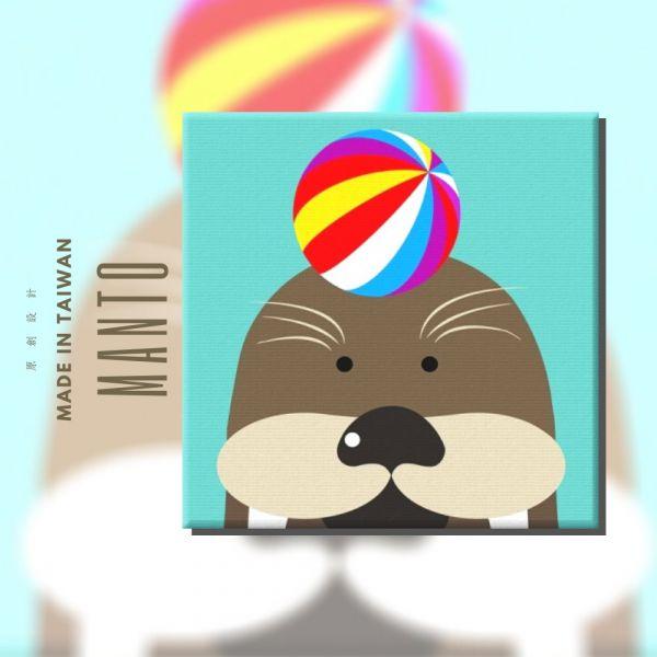 海豹|MANTO創意數字油畫(2020) 海豹,簡單,數字油畫,manto,台灣數字油畫,數字油畫批發,數字油畫團購