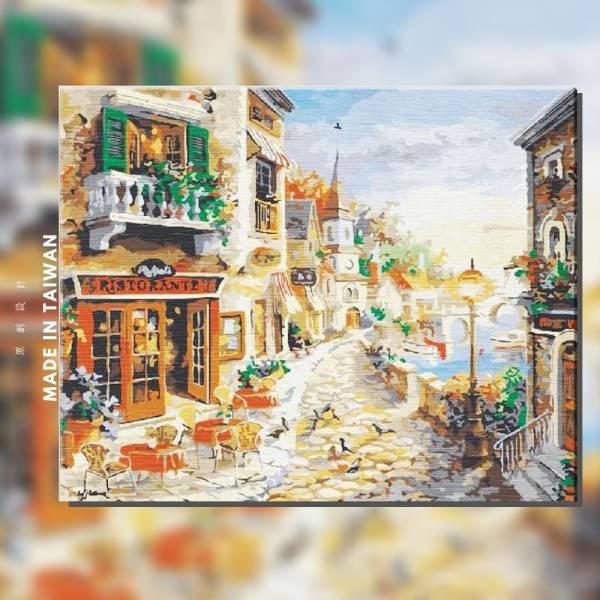 歐風黃金路|MANTO創意數字油畫(4050M) 風景畫,花田,數字油畫,manto,台灣數字油畫,數字油畫批發,數字油畫團購