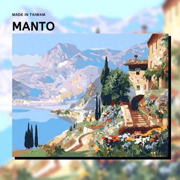 維斯圖拉湖畔【現貨】|MANTO創意數字油畫(4050M) 維斯圖拉湖畔,風景畫,數字油畫,manto,數字畫