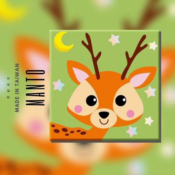 森林梅小鹿|MANTO創意數字油畫(3030) 鹿,森林,數字油畫,manto,台灣數字油畫,數字油畫批發,數字油畫團購