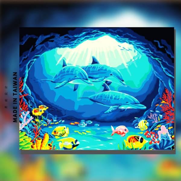 海豚在哪裡【現貨】 |MANTO創意數字油畫(4050M) 盆花,花田,數字油畫,manto,台灣數字油畫,數字油畫批發,數字油畫團購