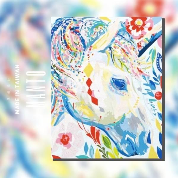 獨角獸【現貨】|MANTO創意數字油畫(4050) 北歐風,裝飾畫,獨角獸,數字油畫,manto,台灣數字油畫,數字油畫批發,數字油畫團購