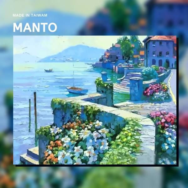 蔚藍海岸|MANTO創意數字油畫(4050M) 蔚藍海岸,風景畫,數字油畫,manto,數字畫