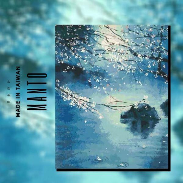 十里桃花|MANTO創意數字油畫(4050M) 十里桃花,風景畫,數字油畫,manto,數字畫