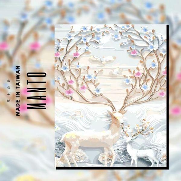 冰雪麋鹿|MANTO創意數字油畫(4050M) 麋鹿,布置畫,數字油畫,manto,數字畫