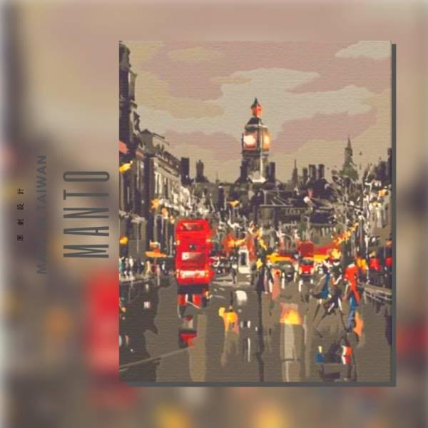 英倫情話|MANTO創意數字油畫(4050) 英國,風景畫,街頭,數字油畫,manto,台灣數字油畫,數字油畫批發,數字油畫團購