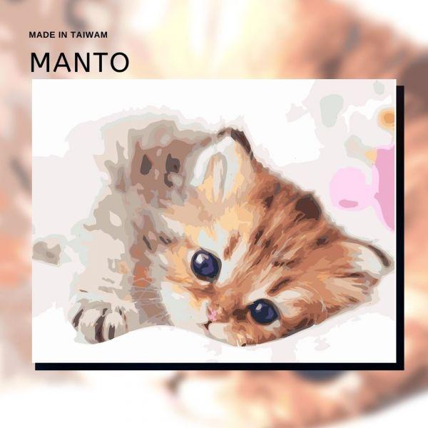 萌萌貓星人|MANTO創意數字油畫(4050M) 貓星人,貓,數字油畫,manto,數字畫