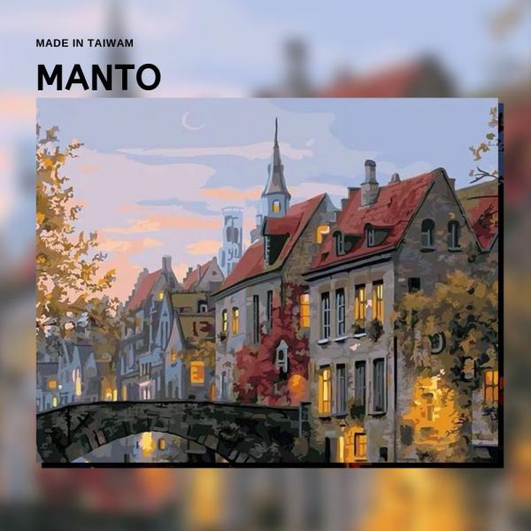 寂靜之夜|MANTO創意數字油畫(4050M) 阿姆斯特丹,風景畫,數字油畫,manto,台灣數字油畫,數字油畫批發,倫敦