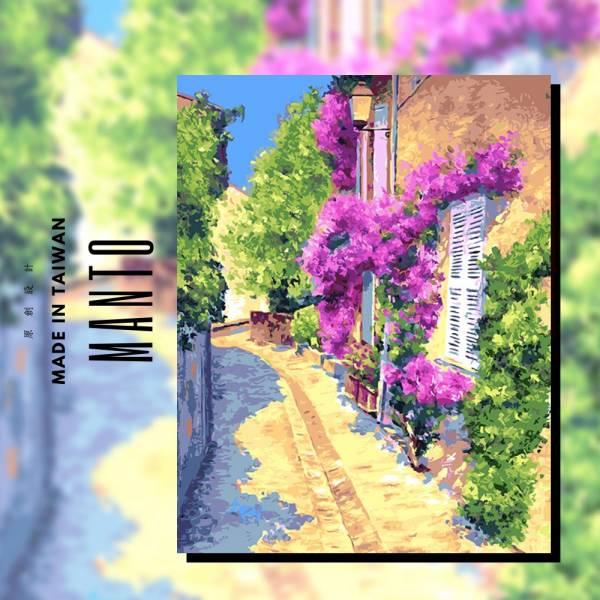 花語小徑|MANTO創意數字油畫(4050M) 花,風景畫,數字油畫,manto,數字畫