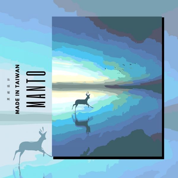 鹿の幻想曲|MANTO創意數字油畫(4050M) 鹿,北歐畫,數字油畫,manto,數字畫