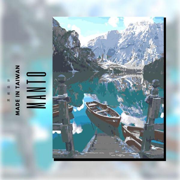 班芙鏡湖|MANTO創意數字油畫(4050) 加拿大,風景畫,數字油畫,manto,數字畫