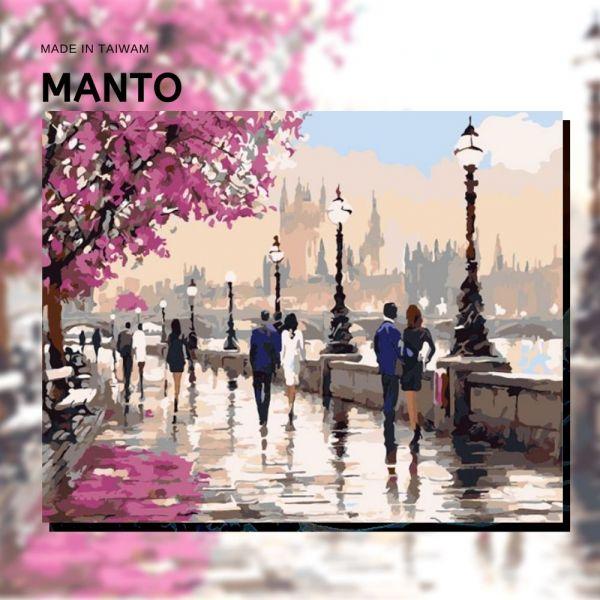 漫步巴黎|MANTO創意數字油畫(4050M) 海岸,風景畫,數字油畫,manto,數字畫