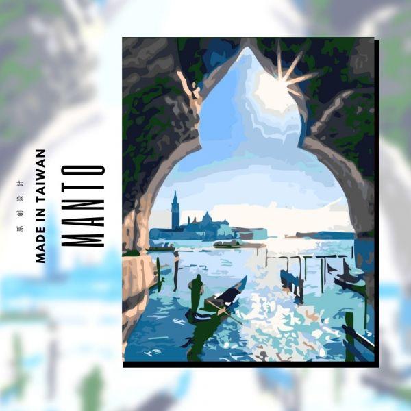 晨光威尼斯|MANTO創意數字油畫(4050) 威尼斯,風景畫,數字油畫,manto,數字畫