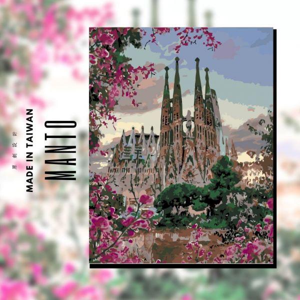 巴塞隆納聖家堂 MANTO創意數字油畫(4050) 西班牙,風景畫,數字油畫,manto,數字畫