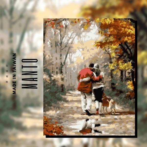 相伴一生【現貨】|MANTO創意數字油畫(4050M) 情侶,風景畫,數字油畫,manto,數字畫